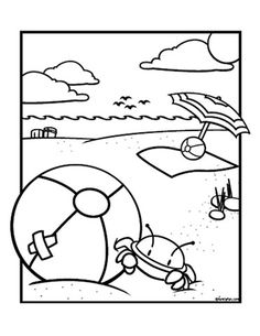 Building Sand Castle Coloring Page Kid Crafts for Summer