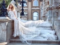 Browse photos of the latest Fall 2016 wedding dress collection from Galia Lahav. View the couture bridal gown collection by Galia Lahav. 2016 Wedding Dresses, Bridal Dresses, Wedding Gowns, Lace Wedding, Bridal Dress Design, Bridal Style, Bridal Collection, Dress Collection, Couture Collection
