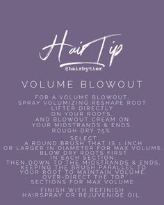 Monat blowout tips Hairdresser Quotes, Hairstylist Quotes, Hair Salon Quotes, Hair Quotes, Fine Hair Tips, Hair Facts, Best Hair Care Products, Monat Hair, Hair Color And Cut