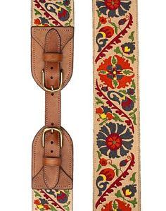 suzani embroidered waist belt $30 @accessories