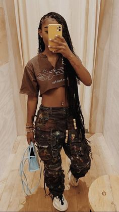 Swag Outfits For Girls, Cute Swag Outfits, Dope Outfits, Teen Fashion Outfits, Pretty Outfits, Girl Outfits, Black Girl Fashion, Tomboy Fashion, Streetwear Fashion