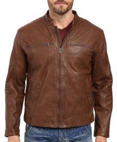 0436c956024cf Cole Haan Washed Vintage Lamb Leather Moto Moto Jacket