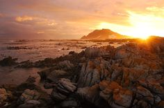 Bettys Bay Sunset in Cape Town, South Africa