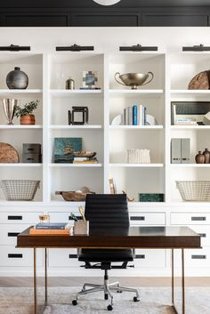 Home Office Décor Inspiration Home Office Design, Home Office Decor, Office Designs, House Design, Dark Wood Desk, Swing Table, Swing Arm Wall Light, Small Workspace, Open Concept Home