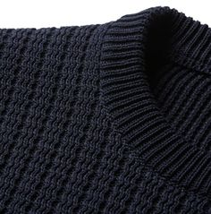 Stay warm and stylish with the selection of sweaters, cardigans and other men's knitwear from over 100 luxury fashion designers from MR PORTER. Cotton Sweater, Men Sweater, Mode Costume, Knitwear Fashion, Men's Knitwear, Knitting Designs, Pulls, Fashion Details, Lanvin