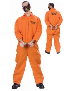 Cell Block Psycho Adult Halloween Costume Hannibal Lecter Standard Size Unisex for sale online