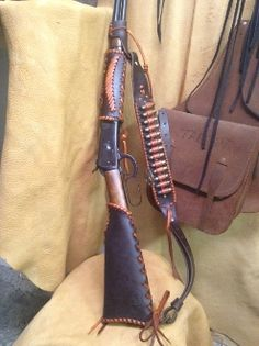 Leather Rifle Sling, Leather Holster, Leather Tooling, Henry Rifles, Leather Craft, Sewing Leather, Western Holsters, Cowboy Action Shooting, Lever Action Rifles