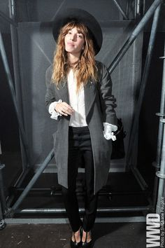 womensweardaily:    Lou Doillon Front Row at Saint Laurent