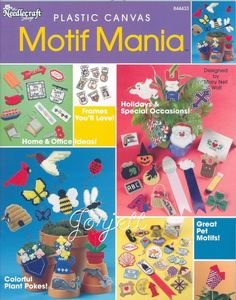 Free Plastic Canvas Magnet Patterns | THIS ITEM IS CRAFT PATTERN(S) ~ WRITTEN INSTRUCTIONS TO MAKE IT ...
