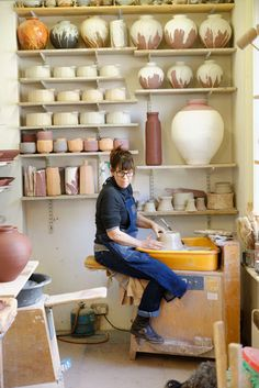 Lisa Hammond in her studio at Maze Hill, London - 2014