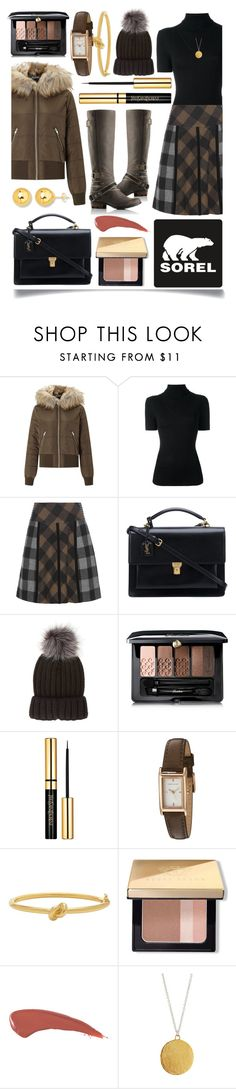 """Tame Winter with SOREL: Contest Entry"" by ittie-kittie on Polyvore featuring SOREL, Miss Selfridge, P.A.R.O.S.H., Etro, Yves Saint Laurent, claire's, Guerlain, Karen Millen, Kate Spade and Bobbi Brown Cosmetics"