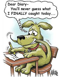 Need a laugh or a smile? Read on and see how cartoon jokes humor can brighten your day. Cartoon Jokes, Cartoon Dog, Funny Cartoons, Cartoon Pics, Cher Journal, Dear Diary, Funny Cute, The Funny, Funny Happy