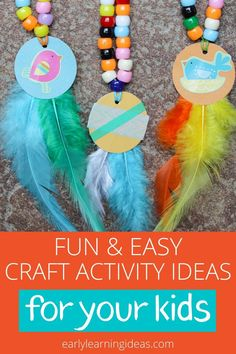 25 Fun and Easy Craft Ideas - Here are the most popular craft projects to do with kids from the Early Learning Ideas website. Preschool Activities At Home, Indoor Activities For Kids, Spring Activities, Fun Activities, Bug Crafts, Crafts To Do, Easy Crafts, Crafts For Kids, Easy Craft Projects