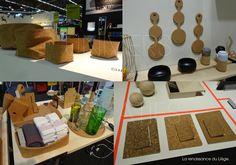 Le liège reprend du service dans le monde du design ! Laissez vous convaincre par ses quelques exemples croisés sur le salon Maison & Objet de janvier 2014 / blog Univers Créatifs.