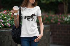 Horse Mom T-shirt Girls Summer Outfits, Summer Girls, Summer Sun, Moon Print, Oeko Tex 100, Slogan Tee, Cat Shirts, Gifts For Her, Graphic Tees