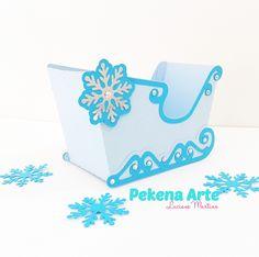 Caixa Trenó Frozen <br>Tamanho <br>Altura:8,5 <br>Largura;6,5cm <br>Comprimento:13cm <br>Papel color plus 180g