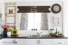 I LOVE this wood valance...and the verse! Colour Saturated Life | Wood Window Valance