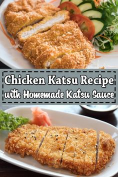Chicken katsu is a perfect homemade Japanese takeout that made with fried chicken cutlet also known as panko chicken, or tori katsu served over delicious tonkatsu sauce. Chicken Katsu Sauce, Chicken Katsu Recipes, Beef Steak Recipes, Chicken Cutlets, Best Chicken Recipes, Asian Recipes, Fried Chicken, Japanese Recipes, Recipes