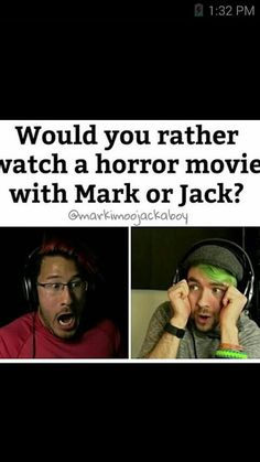 Can't I just watch it with them both??? No?? Well if I had to choose... I would pick Mark