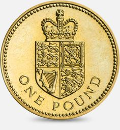 1988 'Shield of the Royal Arms' representing the United Kingdom £1 (One Pound) Coin #CoinHunt