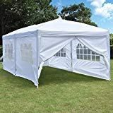New NSdirect 10 x 20 ft Pop Up Outdoor Canopy Tent,Heavy Duty Easy Portable Wedding Party Tent Carrying Bag Adjustable Folding Gazebo Pavilion Patio Shelter 6 Removable Side Walls Tent,White online - Topgetitnow Pop Up Canopy Tent, Wall Tent, Canopy Frame, Pergola Canopy, Canopy Outdoor, Sun Shade Tent, Patio Shade, Grill Gazebo, Patio Gazebo