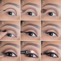 6 tutos make up inédits pour mettre vos yeux en valeur : Soft, rose gold, smokey eye tutorial. Good for hooded eyelids or monolids on Asian eyes. Products and instructions in the link. Contour Makeup, Eye Makeup Tips, Makeup Hacks, Skin Makeup, Makeup Products, Makeup Ideas, Makeup Brushes, Makeup Remover, Eyeshadow Makeup