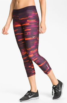 Nike 'Legendary' Print Dri-FIT Tight Fit Capri Leggings | style ...
