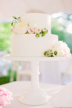 Wedding cake inspiration- we'll have a two tier cake with an H on the top. I would like maybe a couple of flower for the top and the side like these (but with the bright to match)