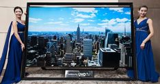Samsung's 110-inch Ultra HDTV is the world's largest, and it goes on sale Monday. I can dream, right?
