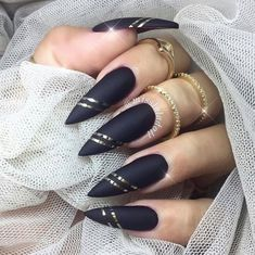 15 Cool Black Nail Design Ideas 2018 Black Nail Designs. Sometimes we need to make designs nail according to the theme of what we do. For example, if the Halloween. #nail #blacknail #nails #naildesign #nailart #design #beauty