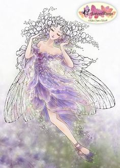 Digital Stamp  Instant Download  Ballet  Wisteria by AuroraWings