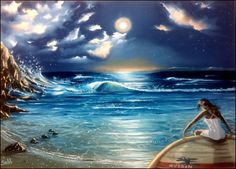 Ocean Whispers - Oils on canvas board 50x70 cm by sabb