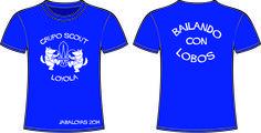 Camiseta para el Grupo Scout Loyola (murcia)
