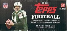 2008 Topps Football set (factory sealed) by Topps. $59.99. Each factory set contains 440 cards per set plus one 5-card cello-pack of Hobby Exclusive Rookie Cards not found in Topps Football. Key Rookies: Matt Ryan, Brian Brohm, Chad Henne, Joe Flacco, Darren McFadden, DeSean Jackson, Limas Sweed, Malcom Kelly, Early Doucet, Eddie Royal, Devin Thomas, Dennis Dixon, Rashard Mendenhall, Justin Forsett, Felix Jones, Adarius Bowman Each set is packed in a shrink-wr...