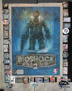 Bioshock 2 chalk art from the Penny Arcade Expo for 2K Games by Eric Maruscak.