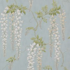 The wallpaper Seraphina - from Colefax and Fowler is wallpaper with the dimensions m x 10 m. The wallpaper Seraphina - belongs to the popu Aqua Wallpaper, Wallpaper Online, Fabric Wallpaper, Bathroom Wallpaper, Chinoiserie, Home Decor Accessories, Decorative Accessories, Colefax And Fowler Wallpaper, Japanese Screen