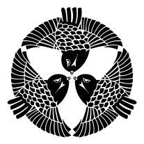 三羽雀( kamon (家紋), are Japanese emblems used to decorate and identify an individual or family. Japanese Family Crest, Japanese Aesthetic, Sgraffito, Laser Cut Wood, Japanese Culture, Style Icons, Logo Design, Portrait, Drawings