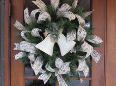 24 Christmas Greenery Wreath Christmas by CreativeSpacesbyGina