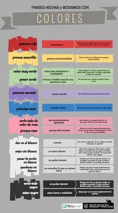 Frases hechas, modismos, expresiones idiomáticas con colores. https://lenguajeyotrasluces.wordpress.com/