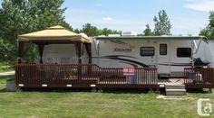 campsite ideas 17 Best images about rv deck ideas Camping Glamping, Outdoor Camping, Camping Ideas, Camping Stuff, Rv Living, Outdoor Living, Caravan Living, Outdoor Patios, Campsite Decorating