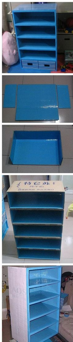 Shut Up!! A shelf for the kids room made out of cardboard! There are no instructions though