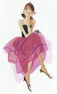 Kiraz: my very first illustrator crush. I was four years old, flipping through my mom's Jour de France magazines. I could stare at his beautiful depictions of Parisian women for hours on end *sigh*!