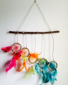 Hey, I found this really awesome Etsy listing at https://www.etsy.com/listing/253749195/dream-catcher-multi-coloured-stick