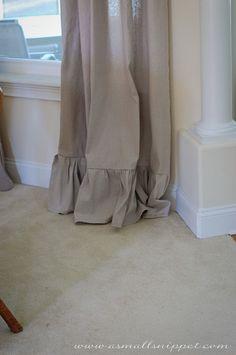 Ruffle drop cloth curtain