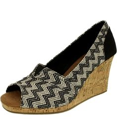 Toms Women's Classic Wedge Woven Cork Ankle-High Fabric Sandal