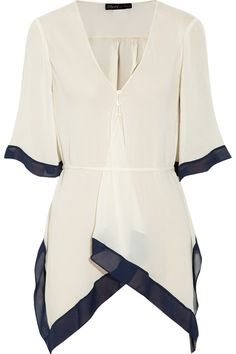 New Adeline belted silk-chiffon blouse by Elizabeth and James