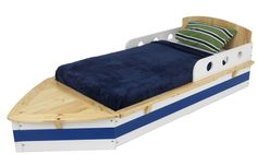 KidKraft Boat Bed ~ With a creative and playful design, the KidKraft Boat Bed makes the crib-to-bed transition as painless as possible. This bed is low to the ground with decorative bed rails for ease and safety. Store blankets, books or toys in the convenient storage compartment.