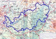 Barangolások az Országos Kéktúrán: KÉKTÚRA TÉRKÉP Budapest, Future Travel, Art Education, Hungary, Architecture Art, Trail, Places To Visit, Hiking, Diagram