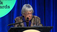 """Subtly, softly, and straight as a arrow! Thank you Ursula Le Guin! The 85-year-old sci-fi writer give a stunner speech at the National Book Awards last month about the problem with capitalism and the power of imagination and great literature. """"We Will Need Writers Who Can Remember Freedom"""" ARTICLE: http://billmoyers.com/2014/12/27/ursula-le-guin-will-need-writers-can-remember-freedom/"""