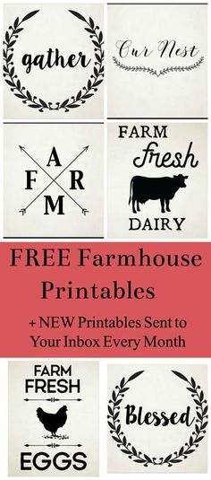 Library of free printables. Enter email to receive FREE access and password to our library of printables. Farmhouse, spring, easter, mother's day and botanical printables. Farmhouse Signs, Farmhouse Decor, Farmhouse Font, Farmhouse Ideas, Farmhouse Style, Shilouette Cameo, Creation Deco, Diy Décoration, Silhouette Cameo Projects